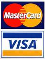 We Accept Visa and Master Card Online!